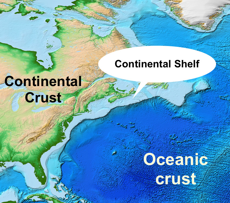 The Earths Crust A Simple Way To View It GEOetc - All oceans on earth