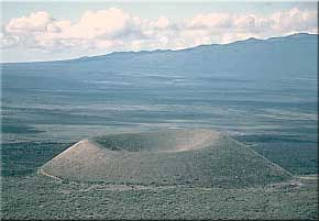 Cinder Cones – a unique volcanic feature.