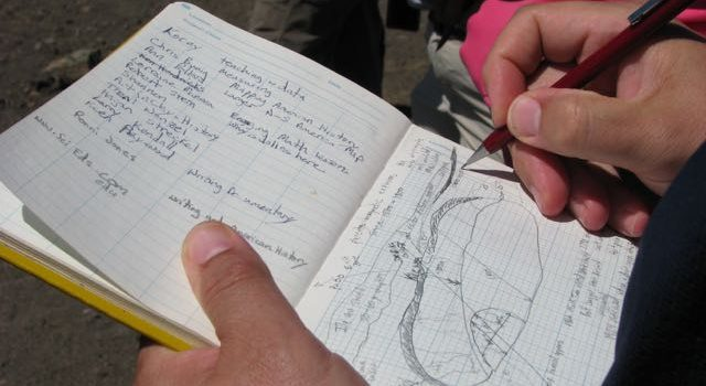 Field Notes – what students need to learn to do.