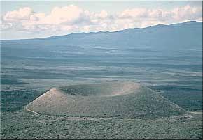 Cinder Cones – a unique volcanic feature.