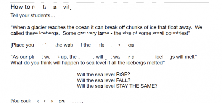 Icebergs and sea level rise (DEMO)