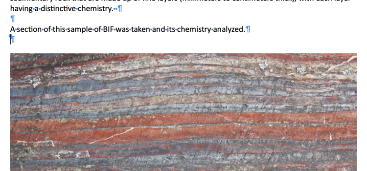 Banded Iron Formations – data graphing and more (Listen to Podcast then an activity)