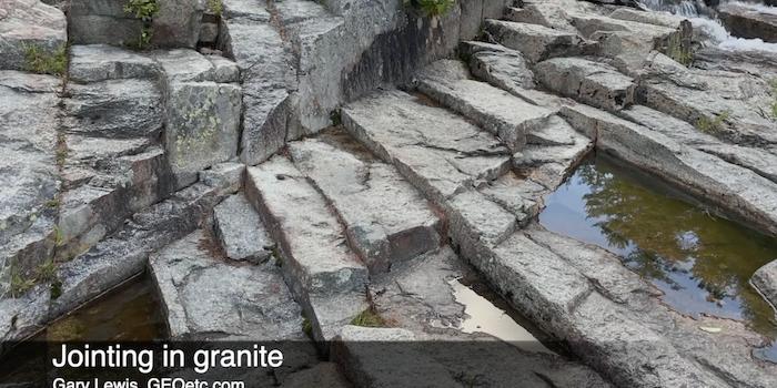 What are those cracks in granite?