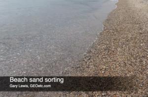 Beach sand sorting