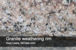 Granite weathering rim